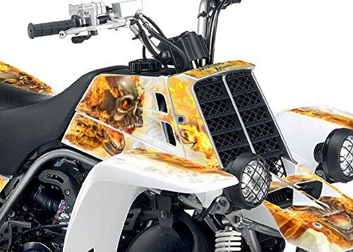 Yamaha Banshee Graphics - White Natural Fire NITRO Design