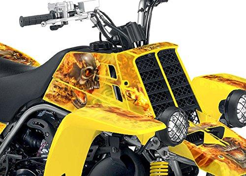 Yamaha Banshee Graphics - Yellow Natural Fire NITRO Design