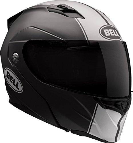 Bell Revolver Evo Modular Motorcycle Helmet Rally Matte BlackWhite Large