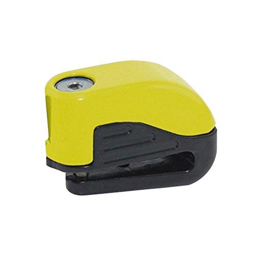 WINOMO Disc Lock Alarm Brake Disc Lock Anti Theft Lock for Motorcycle Bike Yellow