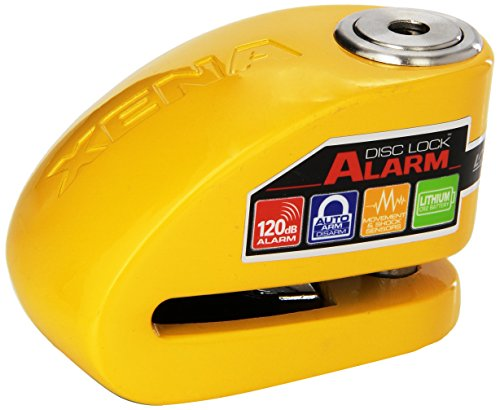 XENA XX10-Y Disc-Lock Alarm for Motorcycle  Yellow Steel