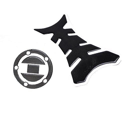 Set Carbon Fiber Pattern Tank vs Gas Cap Decoration Sticker Decal Pad for Suzuki Gsxr600 750 1000 1300 Hayabusa Sv650