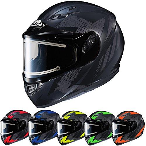 HJC Helmets CS-R3SN TREAGUE Unisex-Adult Full Face Snow Helmet with Framed Electric Shield BlackGray Large