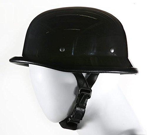 Black German Novelty Motorcycle Helmet Size 2XL XX-Large