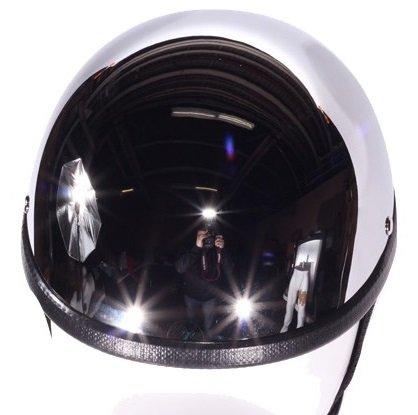 Chrome Gladiator Style Novelty Motorcycle Helmet Size 2XL XX-Large