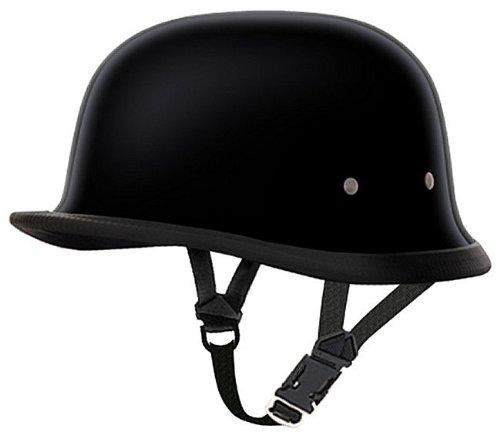 Daytona Helmets - Novelty Helmets GERMAN- HI-GLOSS BLACK Novelty Motorcycle Helmet -XL