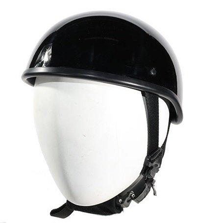 Gloss Black SOA Style Novelty Motorcycle Helmet Size XL X-Large