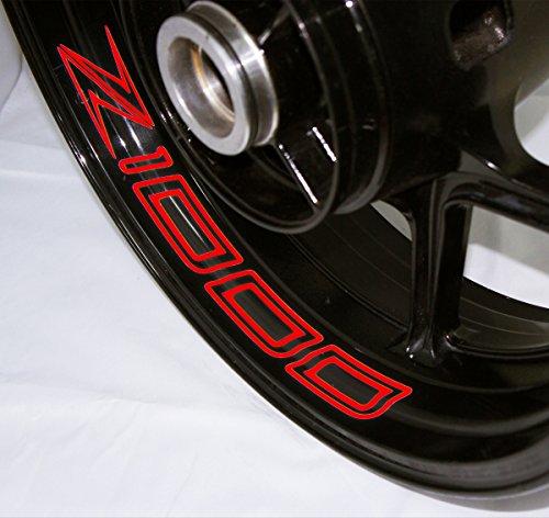AFBA Kawasaki Z1000 2014 Inner Rim Motorcycle Sticker Decal Stripe Gloss Red