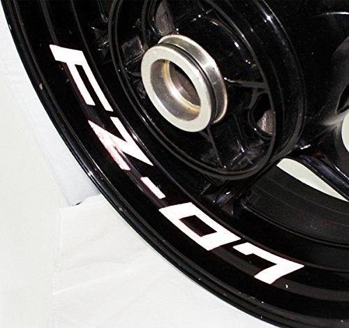 AFBA Yamaha FZ07 Inner Rim Motorcycle Sticker Decal Stripe Gloss White