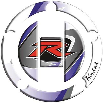 Keiti Gas Cap Protector R White for Suzuki Hayabusa GSX1300R 2003-2009
