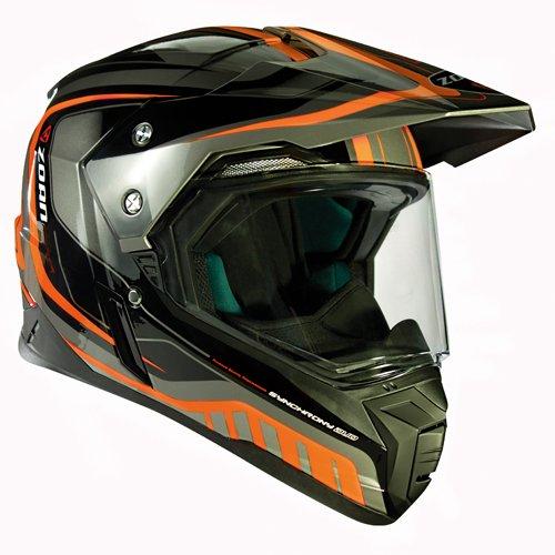 Zoan Synchrony Tourer Orange Double Lens Dual Sport Snowmobile Helmet X-Small