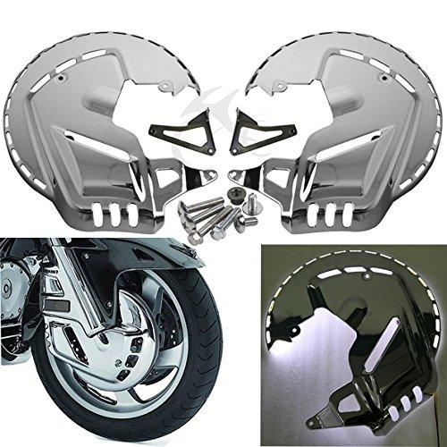 TCMT Ring of Fire LED Brake Disc Rotor Covers White Light For Honda Goldwing GL1800 2001 2002 2003 2004 2005 2006 2007 2008 2009 2010 2011 2012 2013 2014