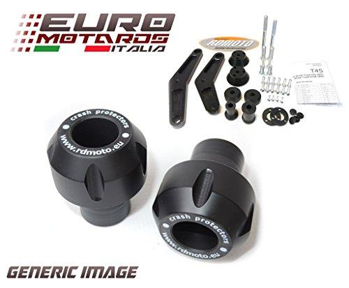 Honda VFR 1200 Crosstourer 2012-2015 RD Moto Crash Frame Sliders Protectors With Full Mounting Kit Black