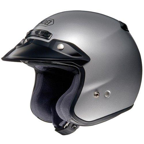 Shoei Metallic RJ-Platinum R Cruiser Motorcycle Helmet - Light SilverMedium