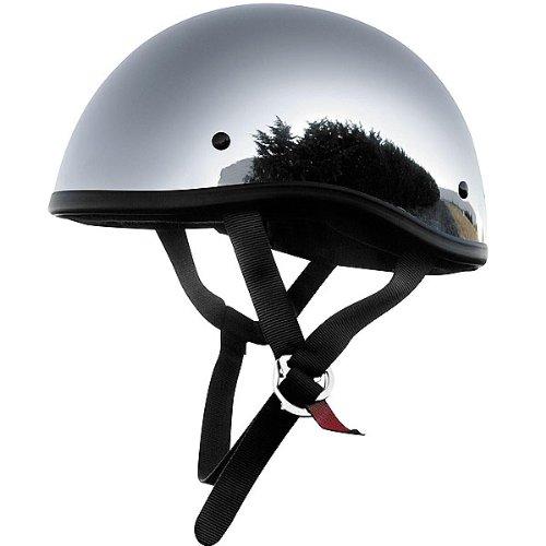 Skid Lid Chrome Original Harley Touring Motorcycle Helmet - Small