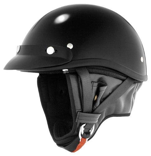 Skid Lid Helmets Classic Solid Touring Helmet  Size Md Primary Color Black Distinct Name Black Helmet Category Street Helmet Type Half Helmets Gender MensUnisex XF64-6902