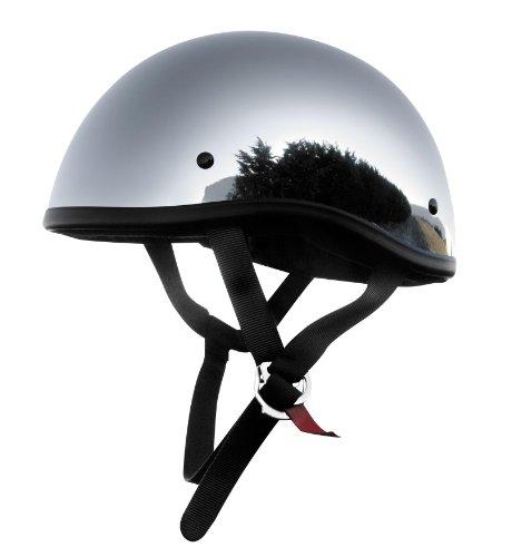 Skid Lid Helmets Original Solid Helmet  Size Md Primary Color Silver Distinct Name Chrome Helmet Category Street Helmet Type Half Helmets Gender MensUnisex XF64-6622
