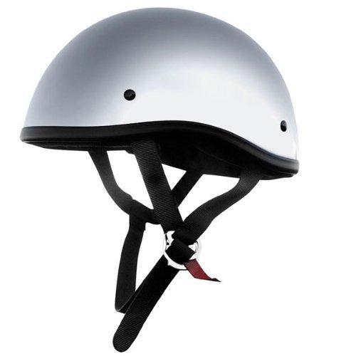 Skid Lid Original Solid Motorcycle Helmets - Chrome - Large
