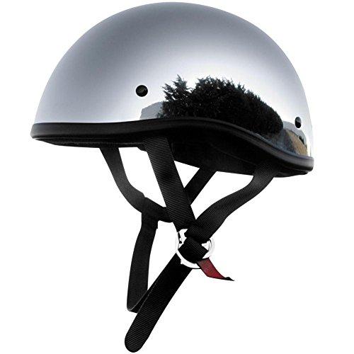 Skid Lid Original Solid Motorcycle Helmets - Chrome - Medium
