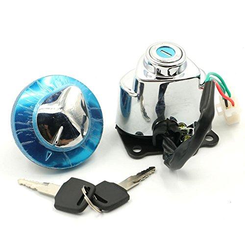 Ignition Switch Gas Cap Helmet Steering Lock Keys For Honda Shadow Aero 750 VT750CE 2014 Shadow Aero 750 VT750C 2004 - 2012 Shadow ACE 750 VT750CD Deluxe 1998 - 2003 Shadow ACE 750 VT750C 97 - 03