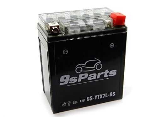 9sparts YTX7L-BS Maintenace Free 12V Sealed Gel Battery For 2008-2014 Kawasaki KFX450R 2011-2012 Aprilia RS4 125 2004-2005 Aprilia Mojito 150 1988-1990 NX125 1991-2009 Honda CB250 Nighthawk