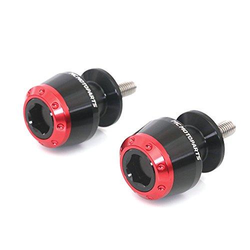 ATOM Red 6MM CNC Swingarm Spools For Aprilia RS4 125 2011-2017