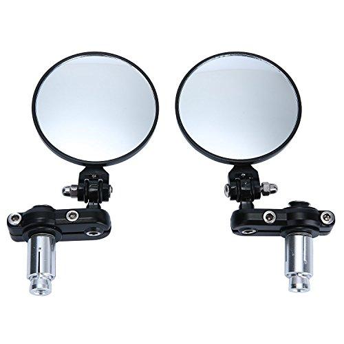 BADASS SHARKS 78Handle Bar End Folding Mirrors For Yamaha Suzuki Ducati BMW Buell KTM Dual Sport Dirt Bikes ATV Street Standard Naked Bike