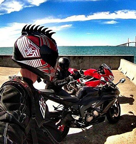 Peel and Stick 8 inch Rubber Sawblade Helmet Mohawk Warhawk Mohawks Helmets Helmet Not Included