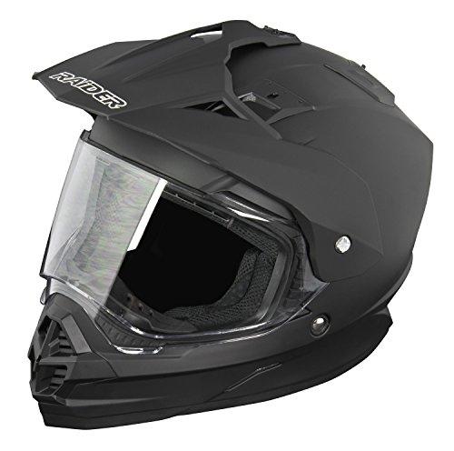 Raider Dual Sport Edge Helmet Matte Black Large