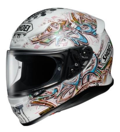 Shoei Graffiti RF-1200 Street Bike Racing Motorcycle Helmet - TC-6  Large