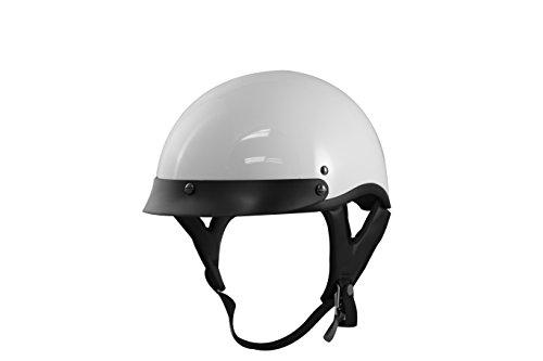 VCAN V531 Half Helmet Solid White Large