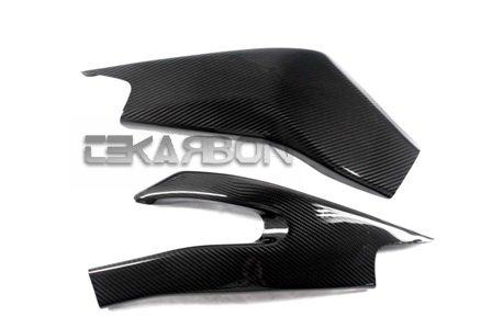 2006 - 2014 Yamaha YZF R6 Carbon Fiber Swingarm Covers - Twill