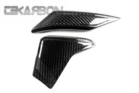 2006 - 2014 Yamaha YZF R6 Carbon Fiber Swingarm Guard Covers - Twill