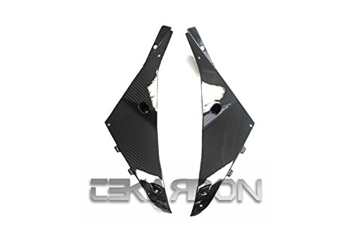2009 - 2012 Kawasaki ZX6R Carbon Fiber Inner Side Panels - Twill