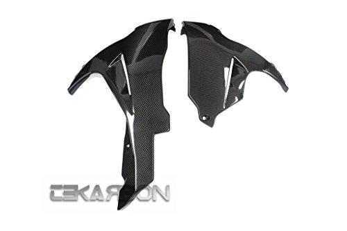 2011 - 2015 Suzuki GSXR 600  750 Carbon Fiber Lower Side Fairings - twill