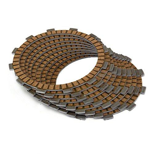 ZJTG AUTOMOTIVE Clutch Disc Friction Plates Set 10pcs for CB1000 94-95 CB1000R CB1000RA 09-12 CBR1000F HURRICANE 87 88 90 91 93 94 95 96