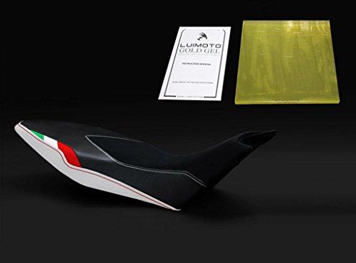 Aprilia Dorsoduro 1200 2010-2014 Luimoto Team Italia Suede Designer Seat Cover  Gel Pad