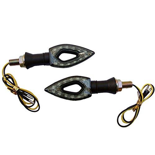 2 x Black LED Turn Signal Indicators Blinker Amer Diamond Lights For 2009 Buell Blast
