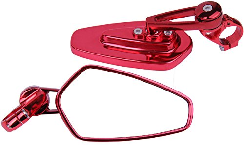 Arrow Bar End View Mirrors in Burgundy Red for 2009 Buell Blast