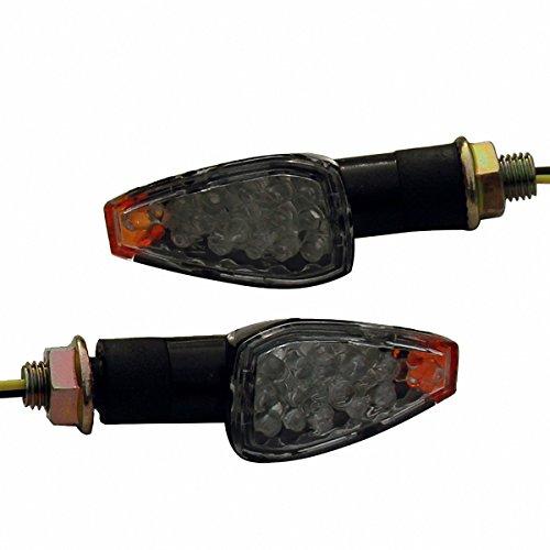 2 x Black LED Turn Signal Indicators Blinker Amer Lights For 2007 Buell Firebolt XB12R