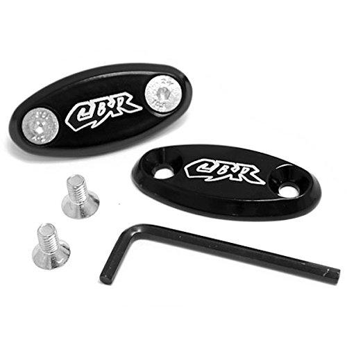 Krator Honda CBR 600 RR F4 F4i 900RR 929 954 1000RR Mirror Block Off Plates Logo Engraved Black 1999 2000 2001 2002 2003 2004 2005 2006 2007 2008 2009 2010 2011