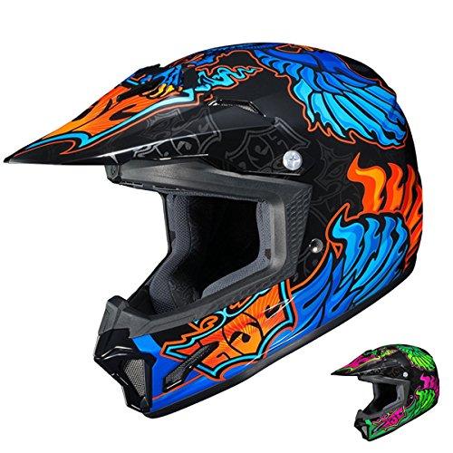 HJC CL-XY II Eye Fly MC-2 Youth Motorcycle Riding Helmet Multicolor Large
