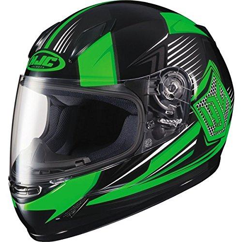 HJC CL-Y Striker MC-4 Youth Motorcycle Riding Helmet Neon GreenBlack Small