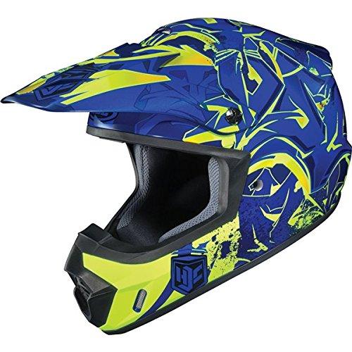 HJC CS-MX II Graffed MC-2H Motorcycle Riding Helmet BlueNeon Medium