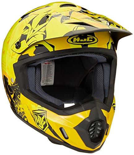 HJC CS-MX II Graffed MC-3 Motorcycle Riding Helmet YellowBlack Large