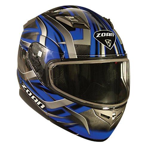 Zoan Flux 41 Devil Blue Modular Flip Up Street Motorcycle Riding Helmet Medium