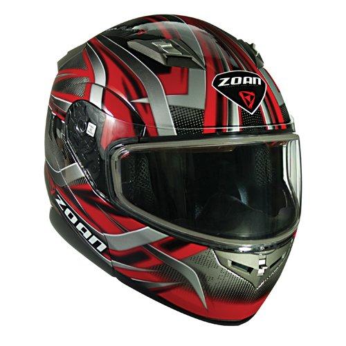 Zoan Flux 41 Devil Red Modular Flip Up Street Motorcycle Riding Helmet Small