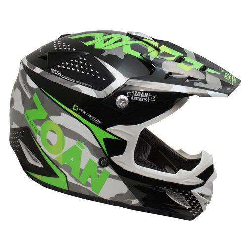 Zoan MX-1 Sniper Black Green Offroad Motocross Motorcycle Riding Helmet Large
