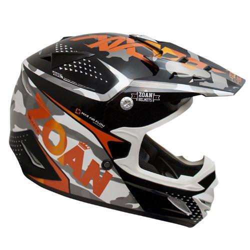 Zoan MX-1 Sniper Black Orange Offroad Motocross Motorcycle Riding Helmet Small