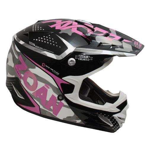 Zoan MX-1 Sniper Black Pink Magenta DOT Offroad Motorcycle Riding Helmet 2X-Large
